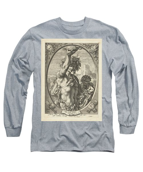 Bacchus God Of Ectasy Long Sleeve T-Shirt by R Muirhead Art
