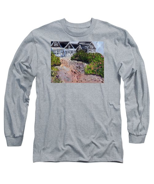 Long Sleeve T-Shirt featuring the painting Back From The Beach by Michael Helfen