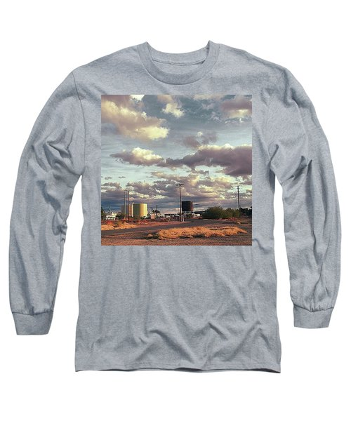 Back Side Of Water Tower, Arizona. Long Sleeve T-Shirt