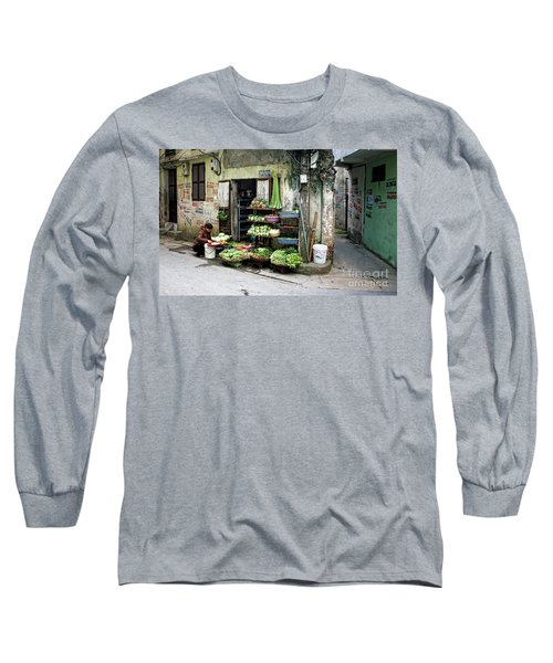 Back Street Veggies Store I Long Sleeve T-Shirt