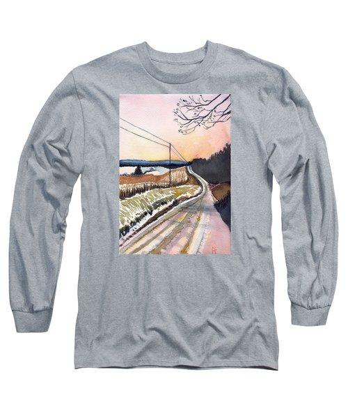 Backlit Roads Long Sleeve T-Shirt by Katherine Miller