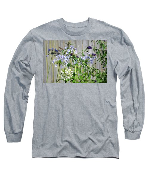 Backyard Flowers Long Sleeve T-Shirt
