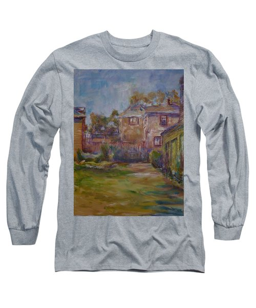 Backyard Impressions Long Sleeve T-Shirt by Helen Campbell