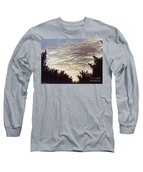 Backyard Sunset Long Sleeve T-Shirt