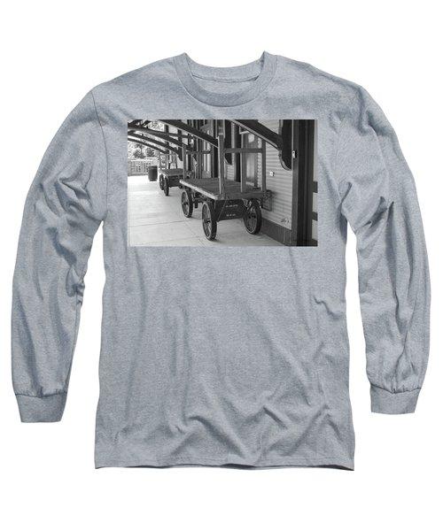 Baggage Carts Bw Long Sleeve T-Shirt