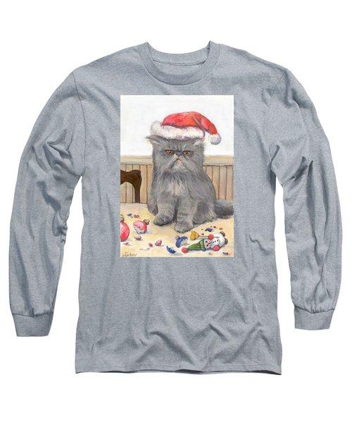 Bah Humbug Long Sleeve T-Shirt by Donna Tucker