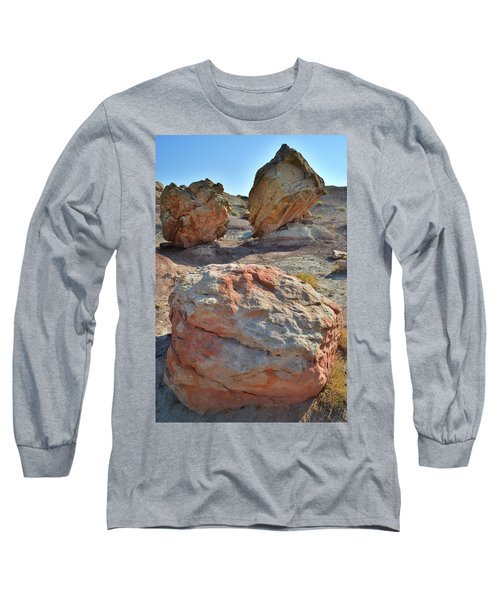 Balanced Boulders In Bentonite Site Long Sleeve T-Shirt