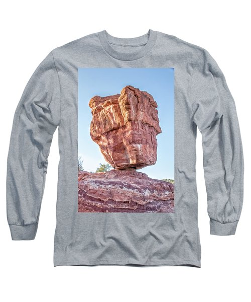 Balanced Rock In Garden Of The Gods, Colorado Springs Long Sleeve T-Shirt by Peter Ciro