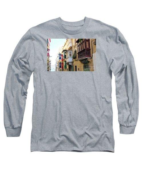 Balconies Of Valletta 3 Long Sleeve T-Shirt