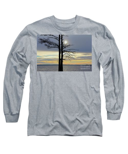 Bald Cypress Silhouette Long Sleeve T-Shirt