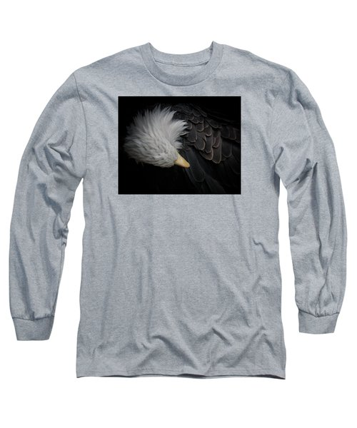 Bald Eagle Cleaning Long Sleeve T-Shirt by Ernie Echols