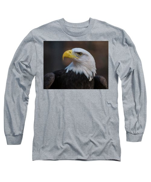 Long Sleeve T-Shirt featuring the digital art Bald Eagle Painting by Chris Flees