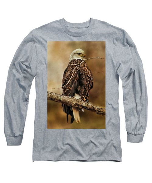 Bald Eagle Perch Long Sleeve T-Shirt