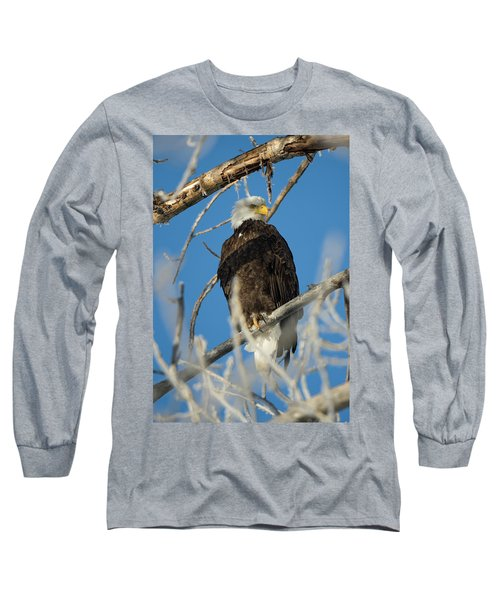 Bald Eagle With Pogo Nip Long Sleeve T-Shirt