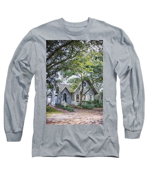 Bald Head Island Chapel Long Sleeve T-Shirt