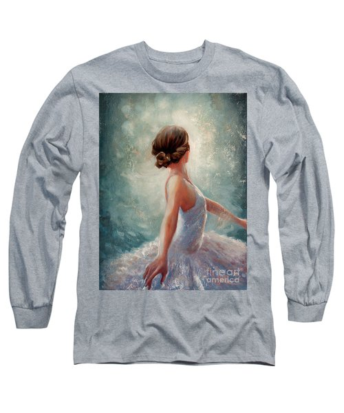 Ballerina Dazzle Long Sleeve T-Shirt by Michael Rock