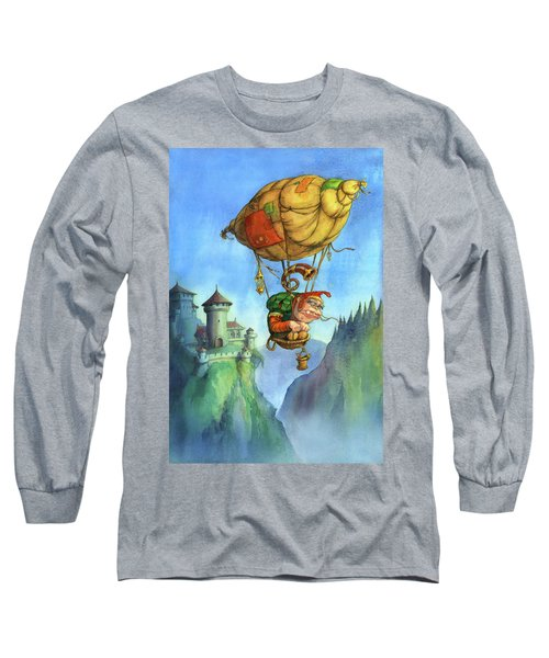 Balloon Ogre Long Sleeve T-Shirt by Andy Catling