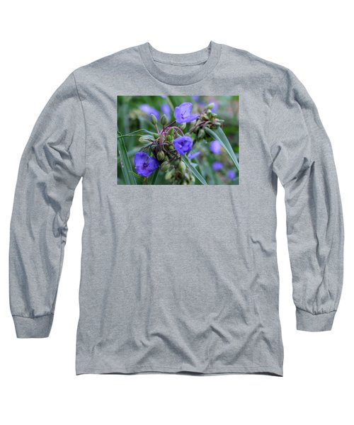 Long Sleeve T-Shirt featuring the photograph Balmy Blue by Michiale Schneider
