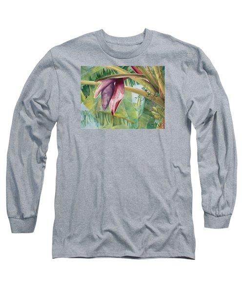 Banana Flower Long Sleeve T-Shirt by AnnaJo Vahle