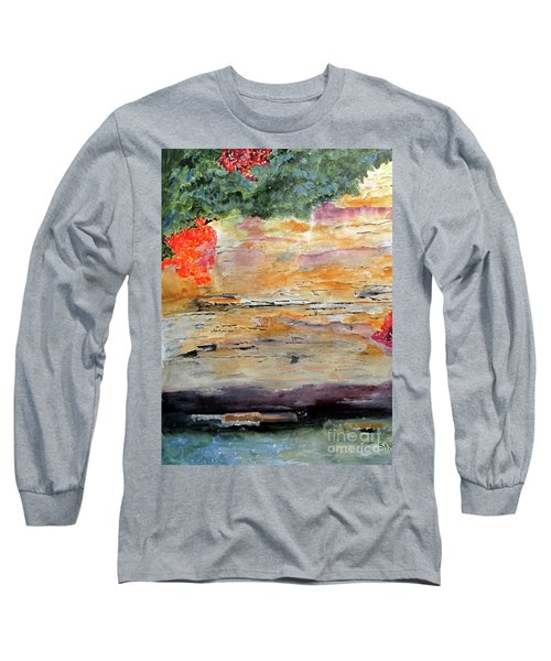 Long Sleeve T-Shirt featuring the painting Bank Of The Gauley River by Sandy McIntire