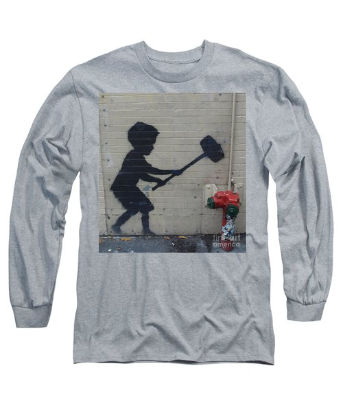 Banksy In New York Long Sleeve T-Shirt
