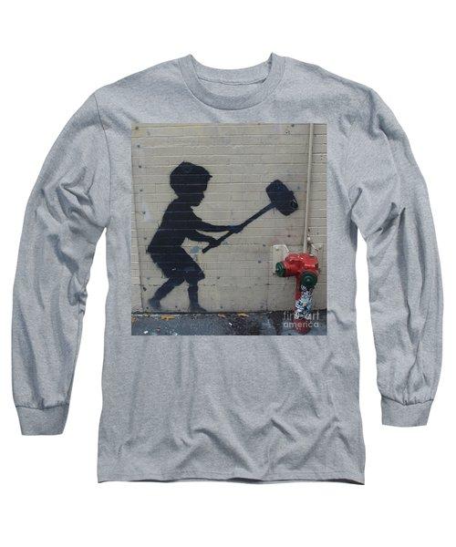 Banksy In New York Long Sleeve T-Shirt
