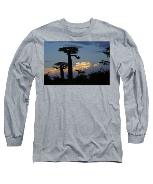 Baobabs And Storm Clouds Long Sleeve T-Shirt