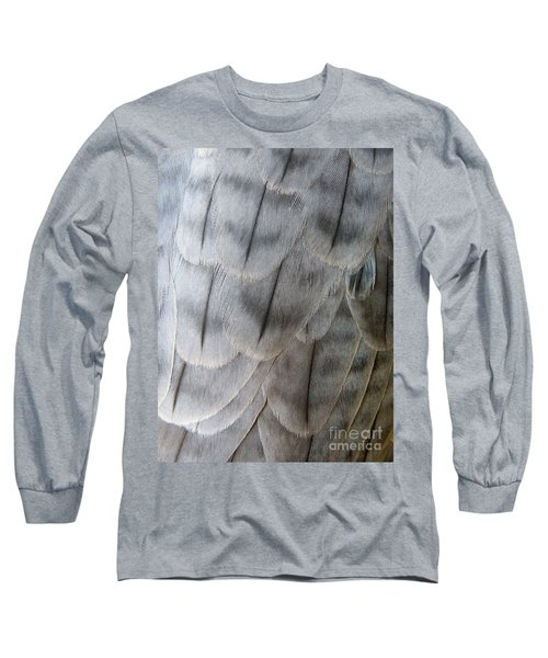 Barbary Falcon Feathers Long Sleeve T-Shirt by Lainie Wrightson