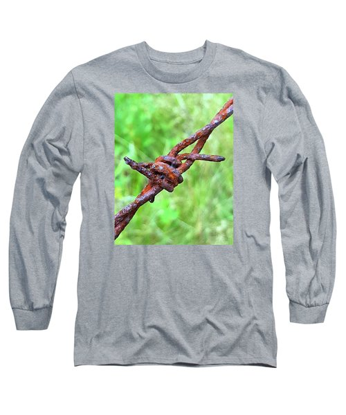 Long Sleeve T-Shirt featuring the photograph Barbed by Bruce Carpenter