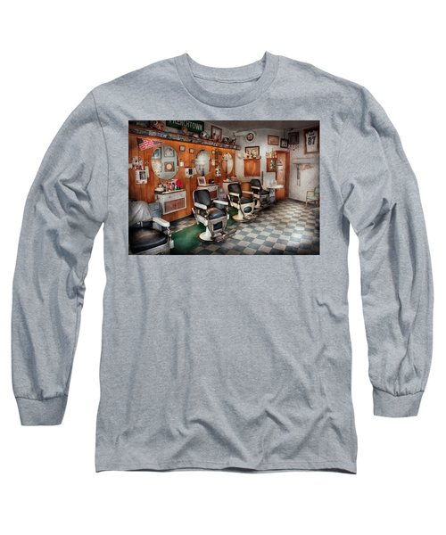 Barber - Frenchtown Barbers  Long Sleeve T-Shirt