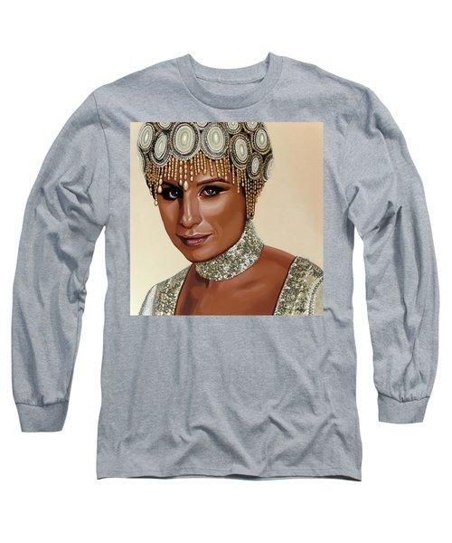 Barbra Streisand 2 Long Sleeve T-Shirt by Paul Meijering