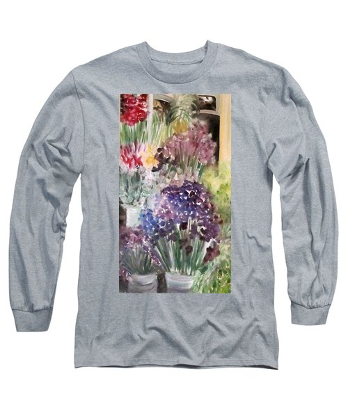 Barcelona Flower Mart Long Sleeve T-Shirt