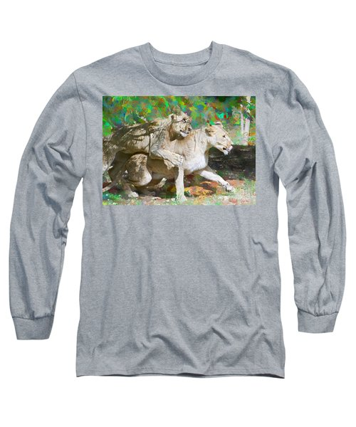 Long Sleeve T-Shirt featuring the painting Bare Back by Judy Kay