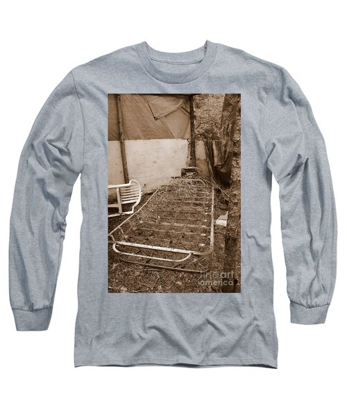 Long Sleeve T-Shirt featuring the photograph Bare Bones Miners Camp by Marie Neder