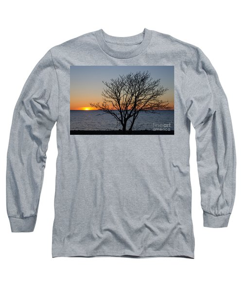 Long Sleeve T-Shirt featuring the photograph Bare Tree At Sunset by Kennerth and Birgitta Kullman