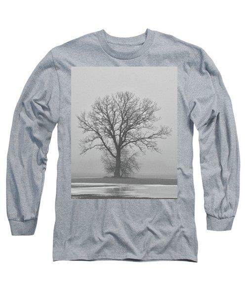 Bare Tree In Fog Long Sleeve T-Shirt