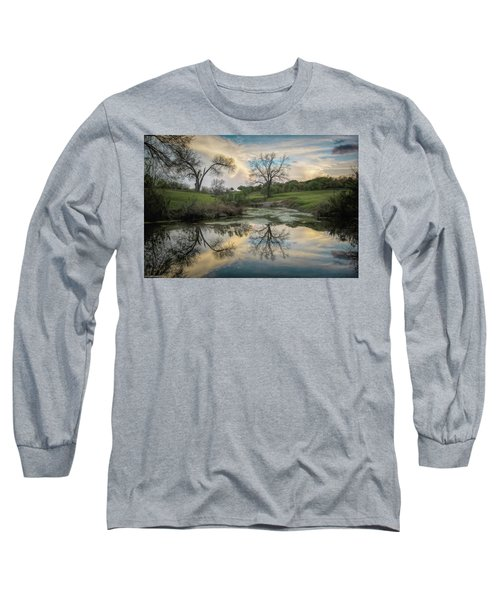 Bare Tree Reflections Long Sleeve T-Shirt
