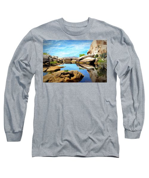 Barker Dam - Joshua Tree National Park Long Sleeve T-Shirt by Glenn McCarthy Art and Photography
