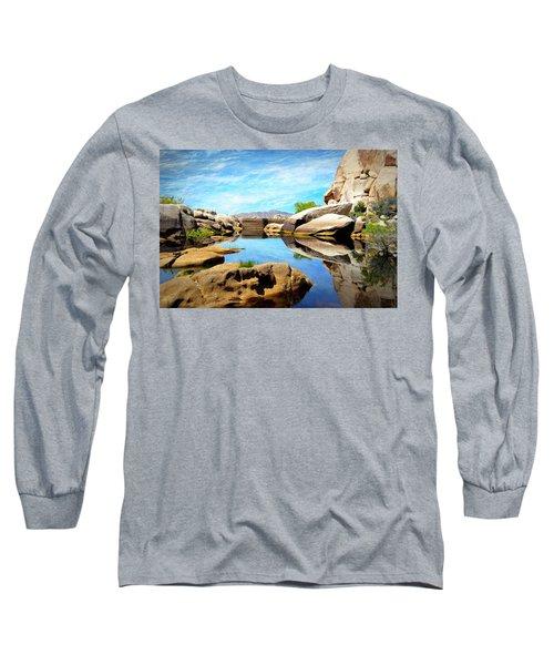 Long Sleeve T-Shirt featuring the photograph Barker Dam - Joshua Tree National Park by Glenn McCarthy Art and Photography