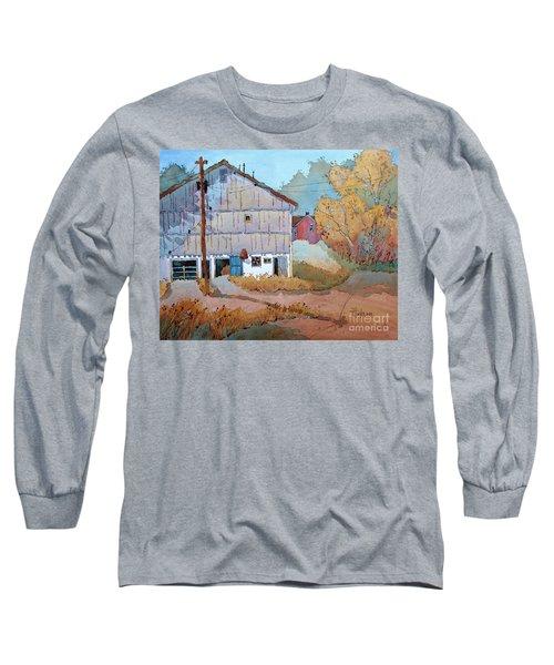 Barn Door Whimsy Long Sleeve T-Shirt by Joyce Hicks