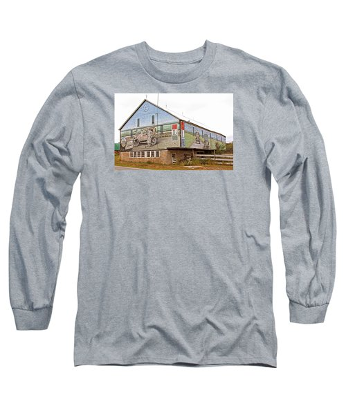 Long Sleeve T-Shirt featuring the photograph Barn In Bedford by Trina  Ansel