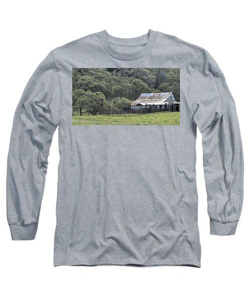 Barn In The Meadow Long Sleeve T-Shirt