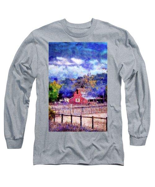 Barn On Ca Highway 154 Long Sleeve T-Shirt by Joseph Hollingsworth