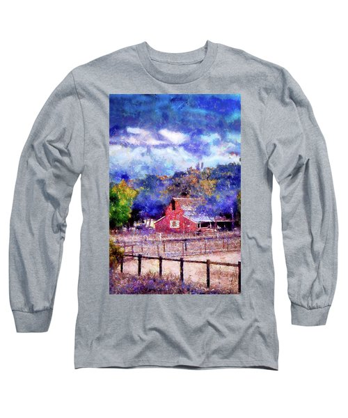 Barn On Ca Highway 154 Long Sleeve T-Shirt
