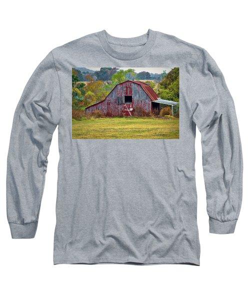 Barn On White Oak Road 2 Long Sleeve T-Shirt