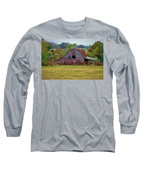 Barn On White Oak Road Long Sleeve T-Shirt