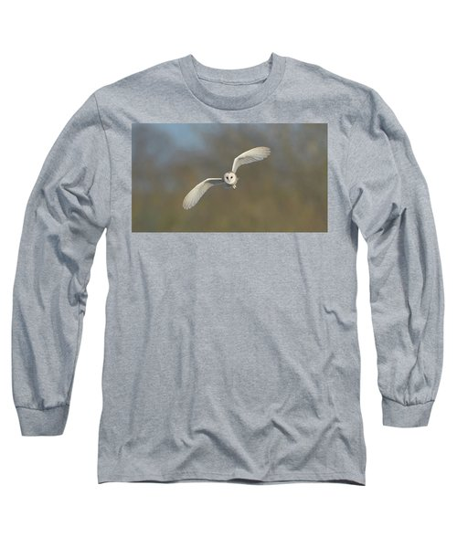Barn Owl Hunting In Worcestershire Long Sleeve T-Shirt
