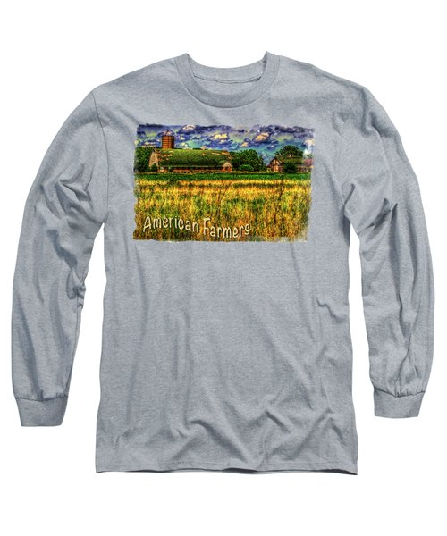 Barn With Green Roof Long Sleeve T-Shirt