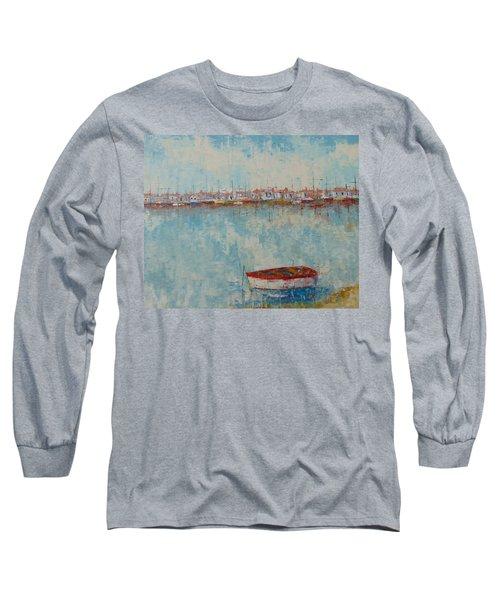 Barque Au Large De Marseille Long Sleeve T-Shirt