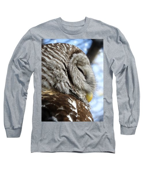Barred Owl Beauty Long Sleeve T-Shirt by Rebecca Overton